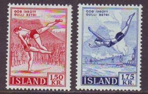 Iceland Sc 300-1 1957  Sports stamp set mint NH