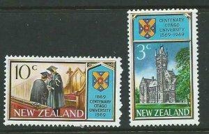 NEW ZEALAND SG897/8 1969 OTAGO UNIVERSITY  MNH