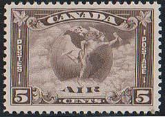 Canada USC #C2 Mint VF-LH  Cat. $90.00 1930 5c Mercury Airmail