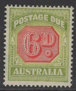 AUSTRALIA SGD117 1938 6d CARMINE & GREEN MTD MINT