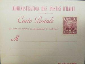 L) 1889 HAITI, GENERAL LOUIS ETIENNE FELICITE SALOMON, 1C, WITH FOOTPRINT, XF