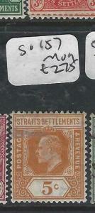 MALAYA  STRAITS SETTLEMENTS  (PP0906B)  KE  5C  SG 157      MOG
