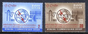 Ceylon - Scott #384-385 - MNH - SCV $6.50