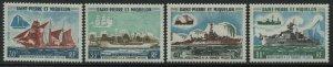 St. Pierre and Miquelon Ships set 30 to 80 francs mint o.g.