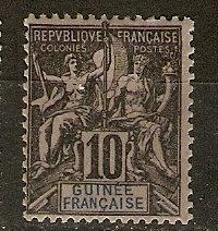 French Guinea 5 Y&T 5 MLH F/VF 1892 SCV $8.00