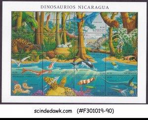NICARAGUA - 1994 DINOSAURS / MARINE PREHISTORIC ANIMALS - MIN/SHT MNH