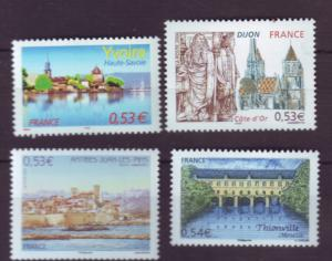 J20483 Jlstamps 2006 france set mnh #3193-6 tourism