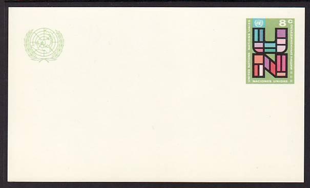 UN New York UX6 Unused Postal Card VF
