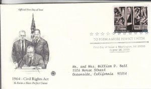 2005, To Form a More Perfect Union-Civil Rights Act-1964, PCS, FDC (E8961)