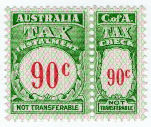 (I.B) Australia Revenue : Tax Instalment 90c