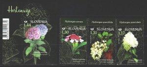 Slovenia. 2019. 1357-59, bl 115. Flowers, flora. MNH.
