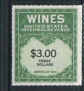 United States Wine Revenue #RE154 MNH