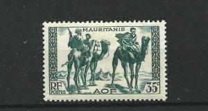 MAURITANIA  1938 - 40  35C  BLUE GREEN            MH