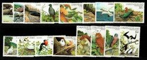 CHRISTMAS ISLAND SG152/67 1982-3 BIRDS FINE USED