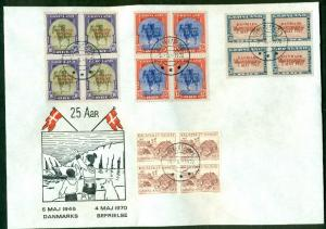 GREEENLAND 1970, 22a-27a, Complete set of WRONG COLOR Liberation Ovpts on covers