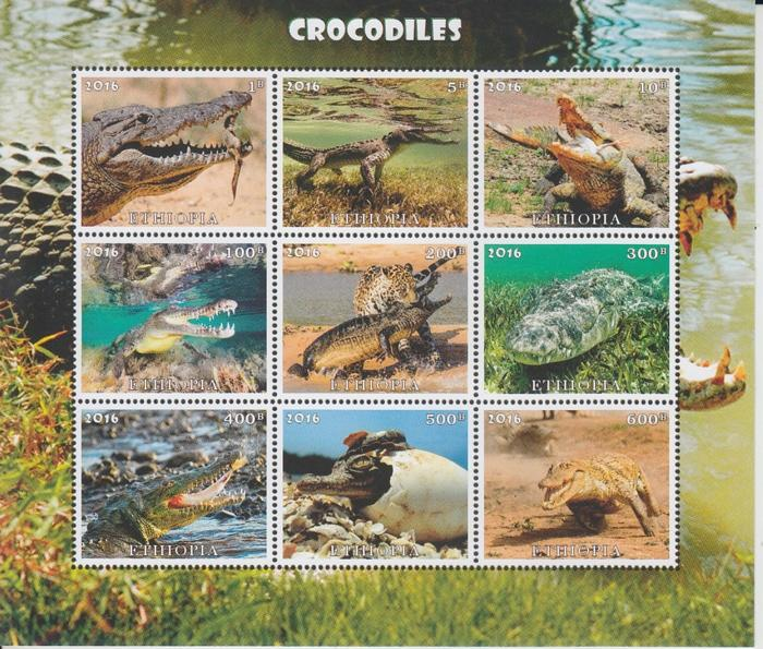 Ethiopia  Local Issue  Crocodiles   9v  Imperforated  Sheetlet  75231