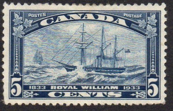 Canada Sc 2004 1933 5c Royal William steamship stamp mint