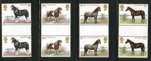 Great Britain Scott 839-42 MNH** 1978 Horse set gutter pairs