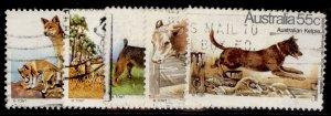 AUSTRALIA QEII SG729-733, 1980 dogs set, FINE USED.