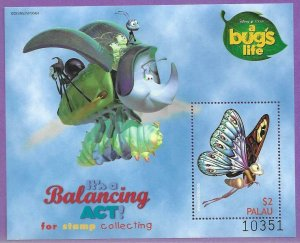 1998    PALAU  -  SG.   MS 1347C  -  A BUG'S LIFE - ANIMATED FILM -  MNH