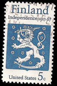 # 1334 USED FINLAND INDEPENDENCE 50TH ANNIV.