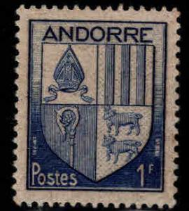 Andorre (French) Andorra Scott 114 MH* coat of arms stamp