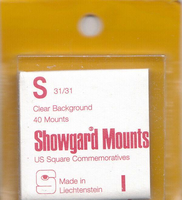 SHOWGARD CLEAR MOUNTS S 36/30 (40) RETAIL PRICE $3.95
