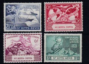 ST KITTS & NEVIS  1949  UPU SET OF 4  MH