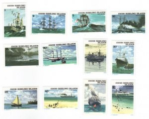Cocos Is. #20-31 ships - MNH cpl