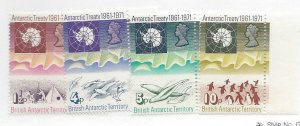 British Antarctic Territory, 39-42, Antarctic Treaty - 10th Singles, MNH