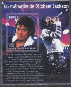 Mali, 2009 issue. Singer M. Jackson s/sheet. ^