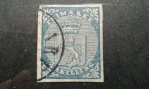 Norway #1 used corner thin e203 7517