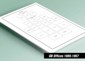PRINTED GREAT BRITAIN OFFICES 1885-1957 STAMP ALBUM PAGES (42 pages)