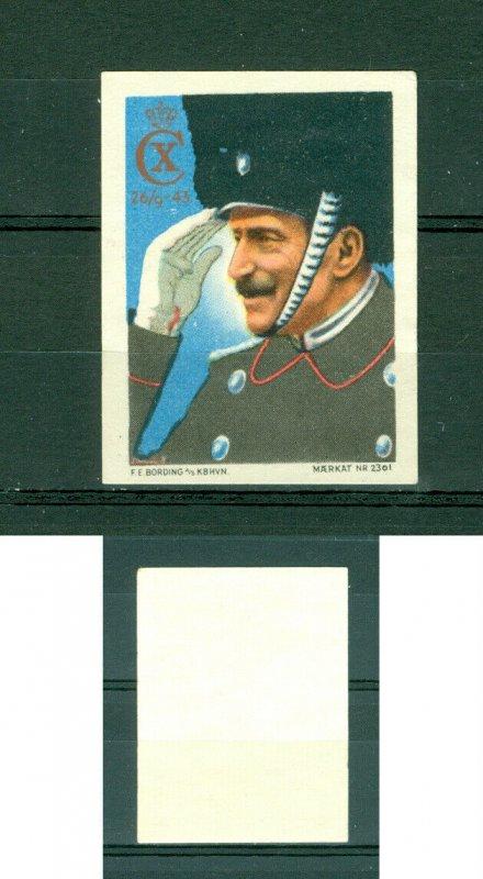 Denmark. Poster Stamp 1943. King Christian X. In Royal Guard Uniform.