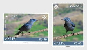 Malta stamps 2019.Europa 2019 - National Birds - Set