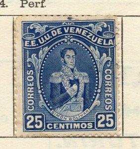 Venezuela 1914 Early Issue Fine Used 25c. NW-114553
