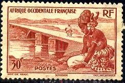 Bamako Dike, French Sudan, French West Africa, SC#37 Mint