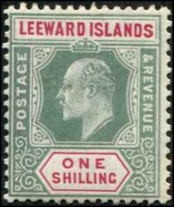 Leeward Islands SC# 37 Edward VII 1shilling MH wmk 3
