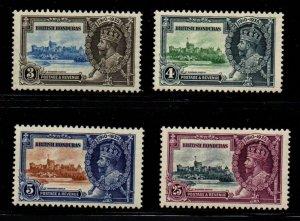 British Honduras Sc 108-11 1935 G V Silver Jubilee stamp set mint