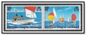 British Virgin Islands #476a Olympics Pair MNH