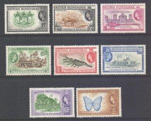 Br Honduras Scott 144/151 - SG179/186, 1953 Elizabeth II 1c-25c Perf 13.1/2 MH*