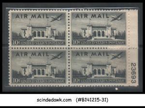 USA - 1946-47 10c AIR MAIL SCOTT#C34 - BLK OF 4 - MINT NH