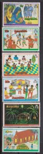 1978 Anguilla Scott 325-330 Christmas MNH