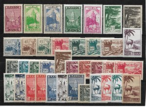 French Morocco 1939-42, Complete Issue, Scott # 149-175, VF MNH** (FR-1)