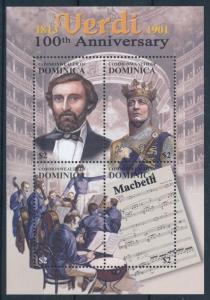 [95064] Dominica 2001 Music Verdi MacBeth Sheet MNH