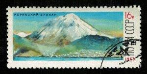 Koryaksky volcano, USSR, (2667-T)
