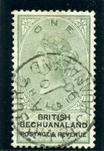 Bechuanaland 1887 QV 1s green & black very fine used. SG 15. Sc 16.