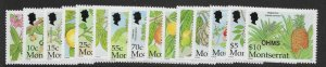 MONTSERRAT SGO137/51 2002 CARIBBEAN FRUITS OFFICIAL SET MNH
