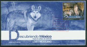 MEXICO 2786, MEXICAN WOLVES, ENDANGERED SPECIES.. FIRST DAY COVER VF.