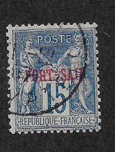 FRENCH OFFICES - PORT SAID SC# 7 F/U 1899